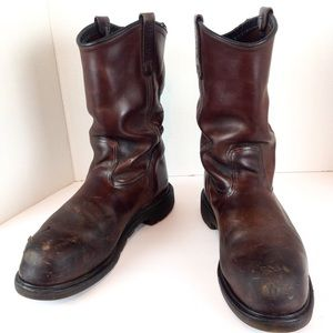 Red Wing Pecos Steel Toe Pull On Work Boots 11D